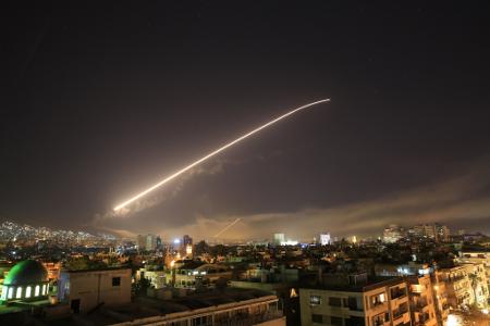 missiles near damascus